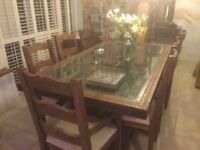 Dining table, large heavy and impressive