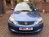 HONDA CIVIC 1.6,FULLY AUTOMATIC 2005,LOW MILEAGE,VERY GOOD CONDITION,FULL SERVICE HISTORY,LADY OWNER