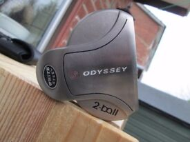 ODYSSEY WHITE STEEL PUTTER,35 INCHES LONG,RIGHT HAND,GOOD CONDITION.
