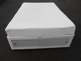 Double divan bed with storage and silentnight mattress. Can deliver