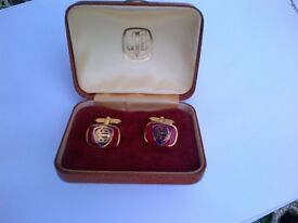 LANCIA vintage red/blue enamelled cufflinks