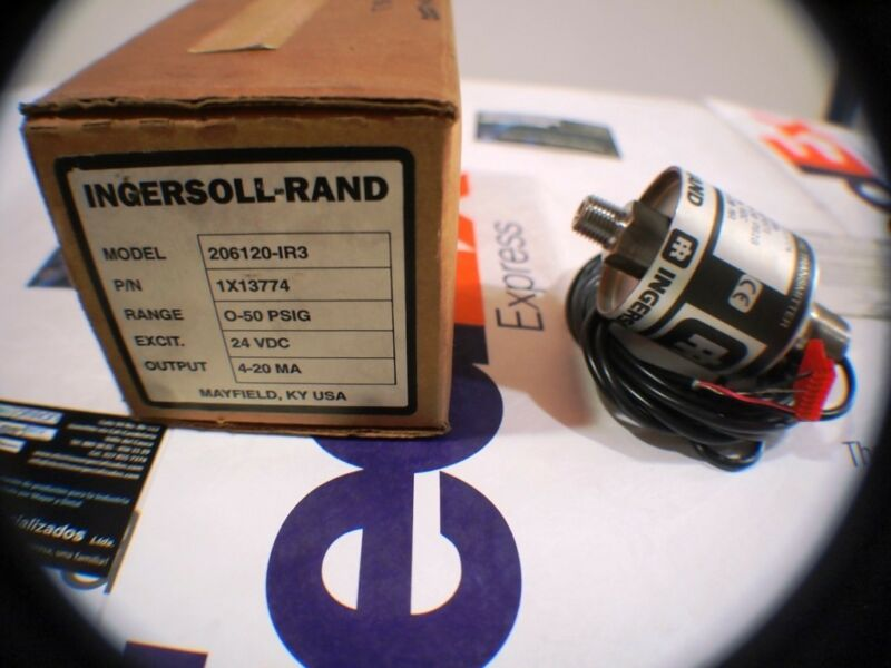 Ingersoll Rand Pressure Transmitter 206120-IR3 1X13774 24 VDC