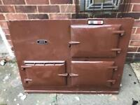 1980's Aga Front Panel With Doors and Temp Gauge