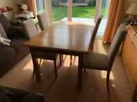 Oak Dining and Chairs