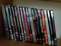 A small DVD collection: 17 movies for £5