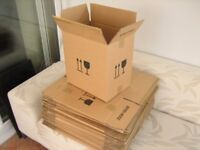 "40 VERY STRONG ""double walled"" boxes 40 x 38 x 27cm. For delicate items + house moving or storage"