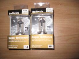 2 new headlamp bulbs still packaged