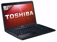 TOSHIBA C660 / INTEL i3 2.40 GHz/ 8 GB Ram/ 320GB HDD/ WIRELESS/ WEBCAM/ WIN 10