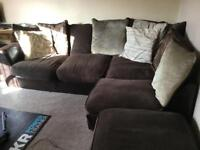 Bargain comfy corner sofa with footstool - must go!