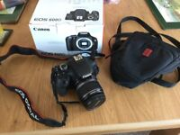 Canon EOS 600D SLR Camera with 18-55mm lens - with box from new and carry bag