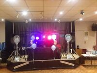 DJ EQUIPMENT FULL DISCO LED LIGHTS,POWERED SPEAKERS, LIGHTING RIG ETC