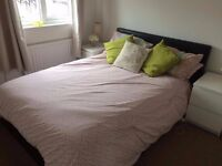 Gas Lift Up Double Faux Leather Storage Bed in Black ONLY (No mattress) £70 ONO