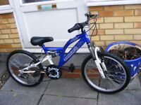 """BOYS 20"""" WHEEL SUSPENSION BIKE IN GREAT WORKING CONDITION AGE 7+"""