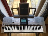 Yamaha PSR3000 Arranger Keyboard with stand, stool, musical score stand and manual