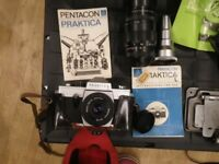 Pentacon Prakica L Camera and other vintage related items