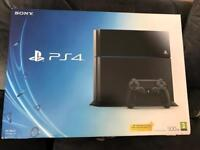 PS4 500gb with 1 controller and fifa 18
