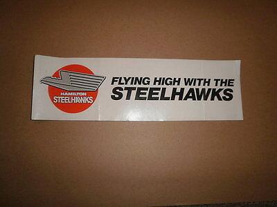 OHL Hamilton Steelhawks Vintage Defunct Bumper Sticker