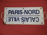 ANTIQUE METAL FRENCH TRAIN SIGN SNCF