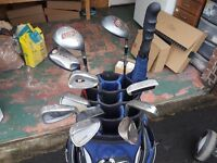 set of golf clubs,bag and trolly