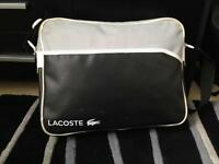 Lacoste - black and white airline bag