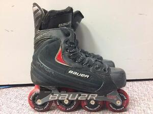 Bauer Vapor RX Ultra Inline Skates Hi/Lo Chassis 68/72mm/82A Skate Size 5, Shoe Size 6