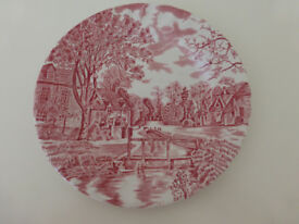 24 Vintage Johnson Brothers Cotswold Pink Plates in 3 sizes