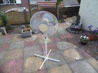 PEDESTAL FAN 3 SPEED ROTATING ~ ideal for garage / workshop / conservatory