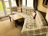8 berth static heated caravan for sale on stunning pitch with sea views at sandy bay holiday park