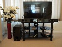 Glass TV Table - Used