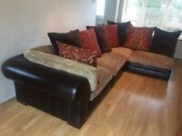 Hemingway Hemmingway Tetrad Leather and Fabric Sectional Corner Sofa DELIVERY