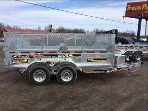 2018 Maxi-Roule 6x12 Galvanized Dump Trailer
