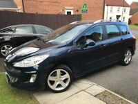 2010 PEUGEOT 308 1.6 HDI SW SPORT, FULL HISTORY, BELTS CHANGED, GLASS ROOF, p/x estate scenic 308