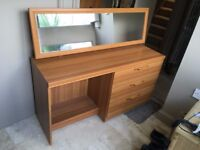Chest of drawers with mirror - Collection only
