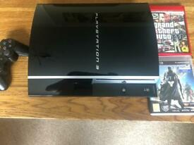 PS3 (fat) with a 1tb hard drive in mint condition 2 games controller and leads
