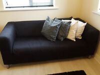 IKEA 2 seat sofa black