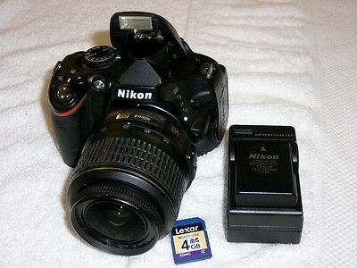 NIKON D5100 16.2MP LOW SHUTTER COUNT 5973 & AF-S 18-55MM VR LENS EXCELLENT++