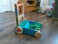 Alligator Wooden Push Toy and Activity Walker