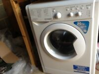 INDESIT 8KG WASHING MACHINE ONLY 4 MONTHS OLD FULLY WORKING WARE HERTS SG12