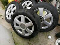 Audi A3 alloys with 205/55/16 tyres