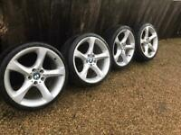 "19"" 5x120 Genuine Bmw Twist Staggered Alloy Wheels Alloys With Tyres Z4"