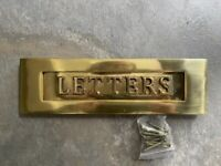 Solid Brass Letter box plate Brand New