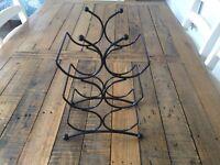 Black wine rack - perfect condition