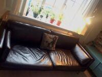 Lovely Dark Brown Sofa