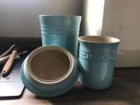 Le Creuset Earthware Jars - Baby Blue