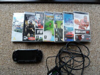 For Sale :- Black Sony Psp + 7 Games