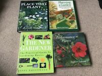 4 HB Gardening Books The New Gardener, Planning a Garden, place that Plant & performance Plants