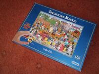 A Gale Pitt Jig Saw Puzzle - Springtime Market - 500 (extra large) pieces!