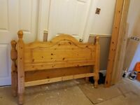 Wooden pine king size bed