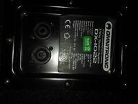 2 (pair) omnitronic passive 400w PA speakers