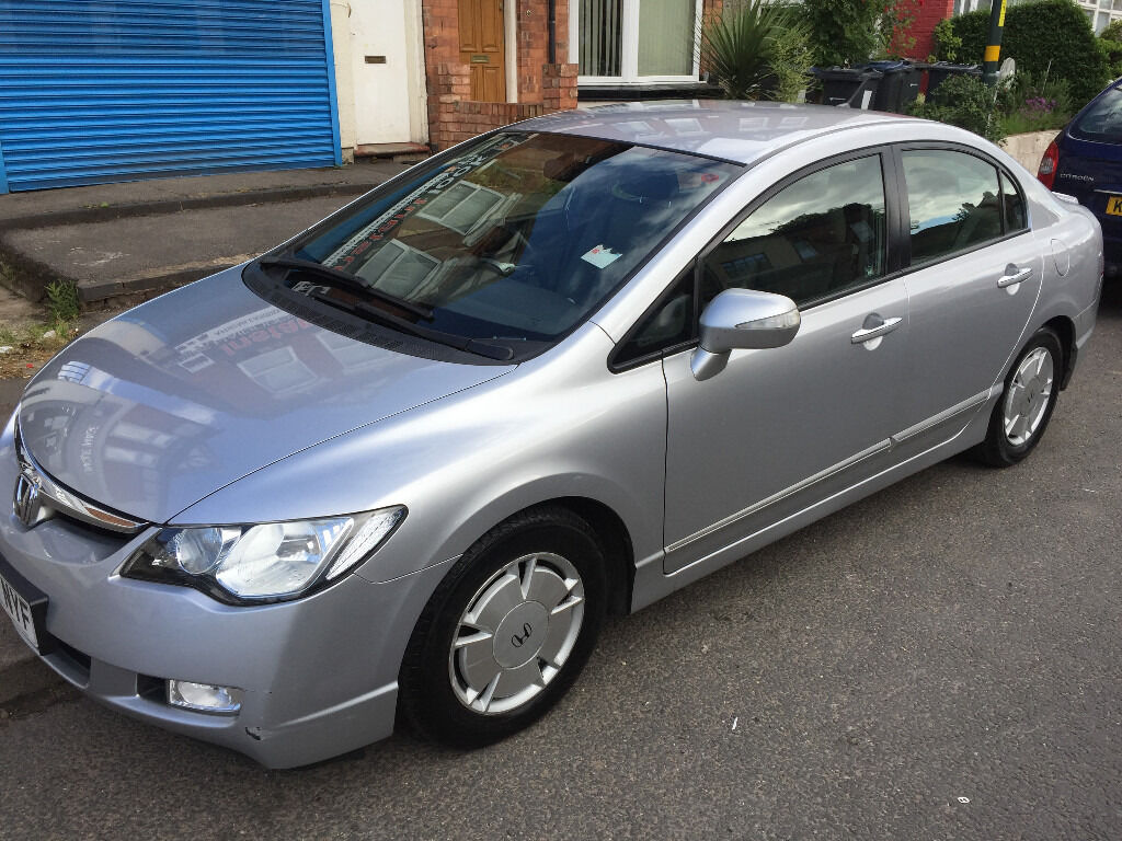 2007 honda civic silver 1 4 hybrid automatic low mileage hpi clear in erdington west. Black Bedroom Furniture Sets. Home Design Ideas